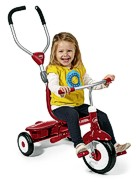 Dreirad rot mit Schiebestange