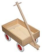 Holzwagen, Bollerwagen mit Gummireifen